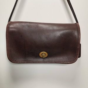 Coach vintage crossbody brown leather purse